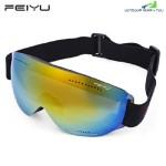 FEIYU UNISEX SPHERICAL UV PROTECTION ANTI-FOG SKIING GOGGLES (YELLOW)