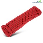 8MM HIGH STRENGTH WOVEN ROPE FOR OUTDOOR CLIMBING (RED)