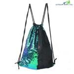HIGH QUALITY DRAWSTRING SPORTS BAG CLIMBING HIKING SHOPPING BACKPACK TRENDY (GREEN)