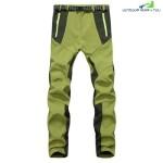 WATERPROOF WARM OUTDOOR SOFT SHELL PANTS FOR WOMEN (GRASS GREEN)