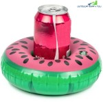 MINI WATERMELON INFLATABLE CUP HOLDER DRINK BOAT SUMMER POOL HAWAII PARTY SUPPLIES (MULTI-A)