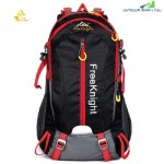FREE KNIGHT FK0215 30L NYLON WATER RESISTANT BACKPACK RUCKSACK FOR MOUNTAINEERING CAMPING HIKING TRAVELING (BLACK)