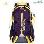FREE KNIGHT FK0215 30L NYLON WATER RESISTANT BACKPACK RUCKSACK FOR MOUNTAINEERING CAMPING HIKING TRAVELING (PURPLE)