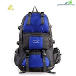 FREE KNIGHT FK0218 50L POLYESTER WATER RESISTANT BACKPACK RUCKSACK FOR MOUNTAINEERING CAMPING HIKING TRAVELING (BLUE)