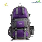 FREE KNIGHT FK0218 50L POLYESTER WATER RESISTANT BACKPACK RUCKSACK FOR MOUNTAINEERING CAMPING HIKING TRAVELING (PURPLE)