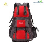 FREE KNIGHT FK0218 50L POLYESTER WATER RESISTANT BACKPACK RUCKSACK FOR MOUNTAINEERING CAMPING HIKING TRAVELING (RED)