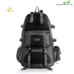 FREE KNIGHT FK0218 50L POLYESTER WATER RESISTANT BACKPACK RUCKSACK FOR MOUNTAINEERING CAMPING HIKING TRAVELING (BLACK)