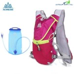 AONIJIE 8L UNISEX RUNNING BACKPACK WITH 1.5L WATER BAG (ROSE RED)