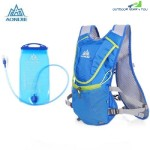 AONIJIE 8L UNISEX RUNNING BACKPACK WITH 1.5L WATER BAG (BLUE)