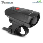 Deemount Digital Cycling Horns Bicycle Handlebar Ring Bell Alarm for Safety (BLACK)