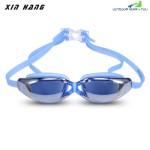 XINHANG XH9200 HD Plating Anti-fog UV Swimming Goggles (BLUE)