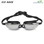 XINHANG XH9200 HD Plating Anti-fog UV Swimming Goggles (BLACK)