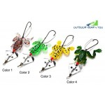 9cm Fishing Lure Soft Frog Spinner Bait with Offset Hook