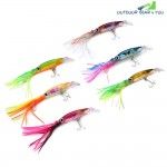 6pcs 14cm Trolling Minnow Fishing Lure Bionic Squid Bait 40g