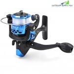 JL200 Electroplating Fishing Spinning Reel Folding Arm 3-Ball Bearing 5.2|1 with Transparent Fishing Wire
