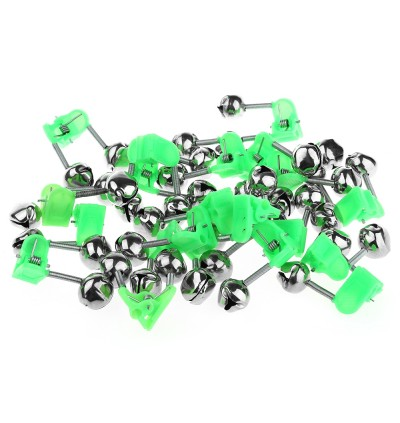 20PCS Two Bells Fishing Alarm Bite Alertor Clip on Rod Tip