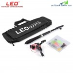 LEO 1.6M Telescopic Fishing Rod Set with Fish Reel Hook Lure Tackle Accessory