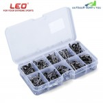 LEO 80pcs Fishing Rod Guide Ring Tip Stainless Steel Ceramic Fish Accessory