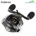 FISHDROPS LB200 Left Right Hand Fishing Bait Casting Reel