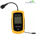 LCD Water-resistant Fish Finder Ultrasonic Sonar Sensor Echo Sounder
