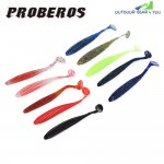Proberos 10 Color Soft Worm Fish Lure Bait Fishing Accessory Tackle