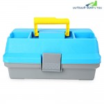 3 Layer Multifunctional Carp Fly Fishing Tackle Plastic Handle Box