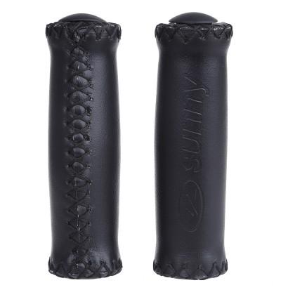 2pcs Bike Soft Leather Handmade Handlebar Grip Bicycle Accessories