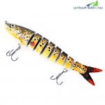 PROBEROS Hard Fishing Lures Crank Bait with Multi-jointed Tackle