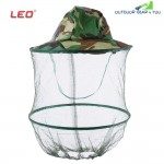 LEO Digital Jungle Camouflage Anti-mosquito Fishing Mesh Face Protection Mask Cap Hat for Outdoor Activity
