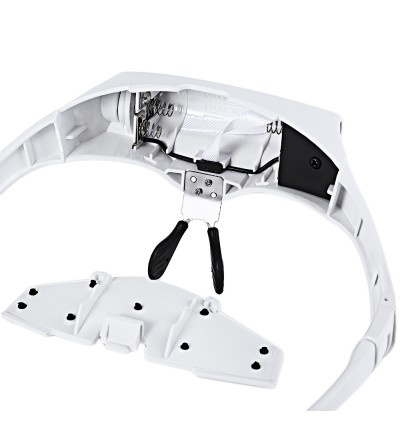2 LEDs Headband Glasses Interchangeable Style Magnifying Glass Magnifier with 1.0X | 1.5X | 2.0X | 2.5X | 3.5X Lenses