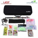 LEO Outdoor Fishing Spinning Rod Reel Tackle Tool Kit