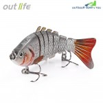 Outlife 7-segement Swimbait Crankbait Fishing Artificial Bait