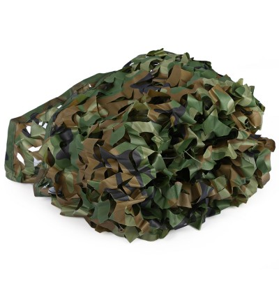 1.53M x 1.99M Woodland Military Car Cover Hunting Camping Tent Camouflage Net Netting