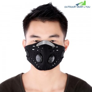 Unisex Anti-dust Anti-pollution Air Filter Breathable Face Mask for Cycling Riding Hiking