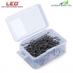 LEO 27570 100pcs | Lot High Carbon Steel Crank Lead Sharp Fishing Hook Sea Fish Tackle