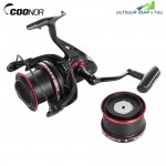 COONOR 12 + 2 Ball Bearings Metal Spool Spinning Fishing Reel 4.6:1 with YF8000 + YF9000