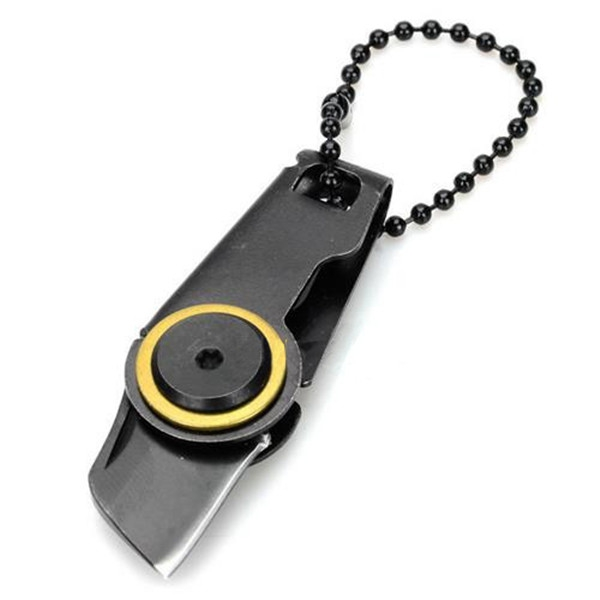Mini Frame Lock Foldable Knife Stainless Steel Made with Key Chain for Outdoor Adventure