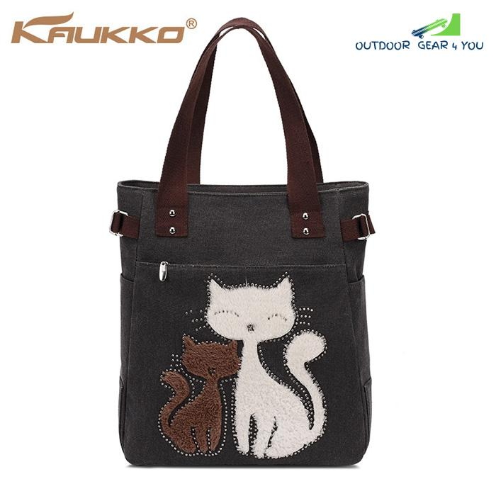 KAUKKO GW093 10L Female Canvas Handbag for Outdoor Sports