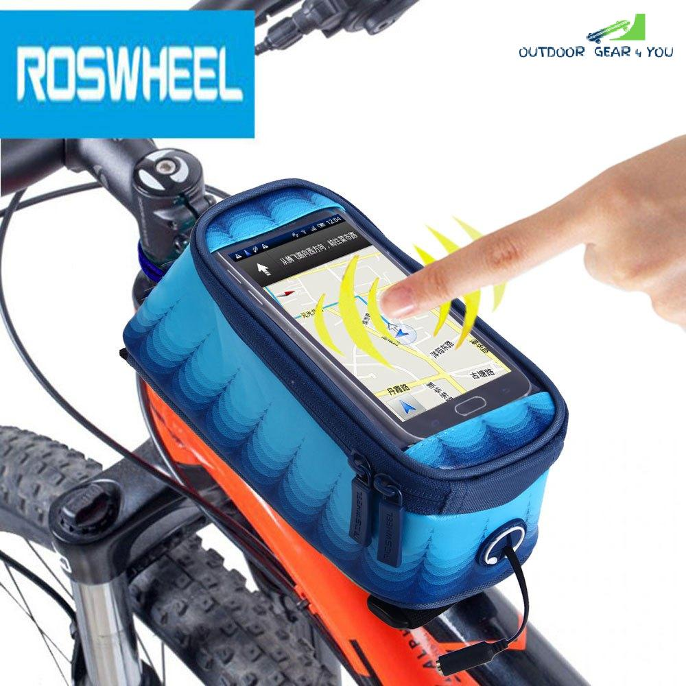 Roswheel 4.8 inch Touch Screen Bicycle Front Tube Phone Bag Holder Handlebar Pouch