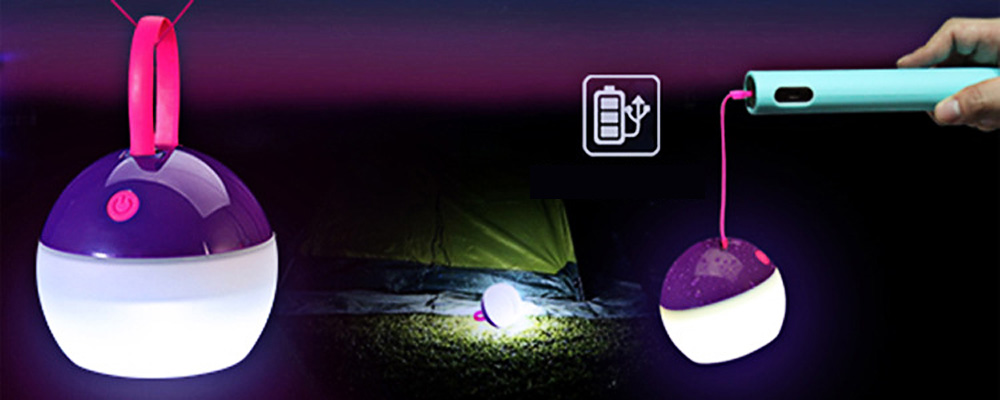 3 Mode 1W 100LM IPX7 USB Rechargeable LED Tent Lamp