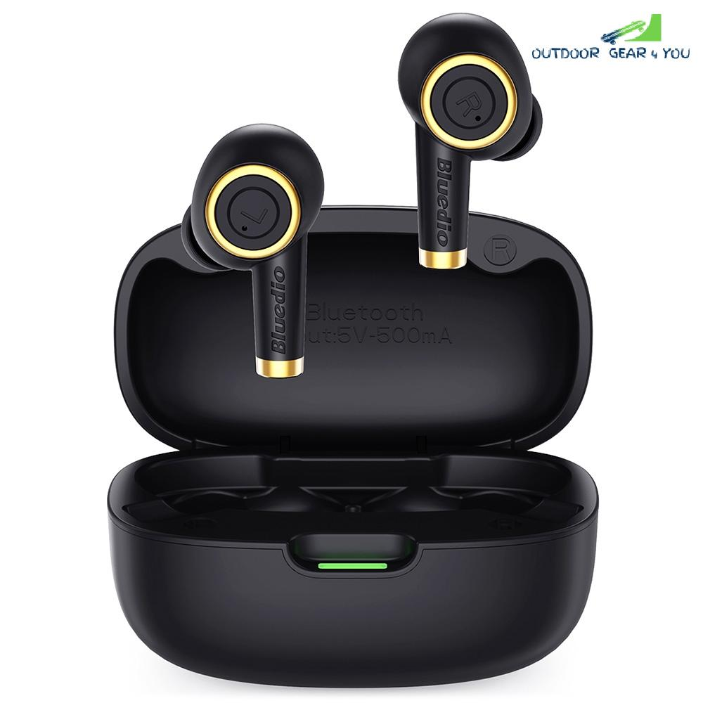 Bluedio Particle Bluetooth Headphones TWS Wireless Earbuds Waterproof Sports In-ear Headphones with Charging Case Support In-ear Detection