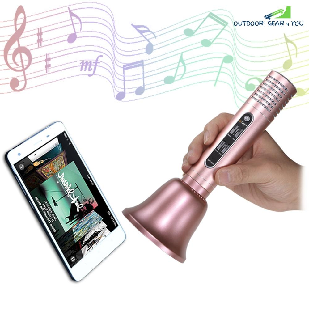 GBTIGER Handhold Bluetooth Speaker Wireless Microphone Karaoke KTV Player compatible with iPhone Android Smart Phone