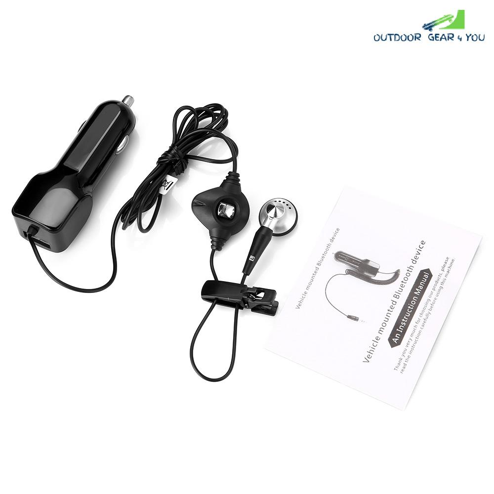 Bluetooth V4.1 Hands-free Headset USB Car Charger
