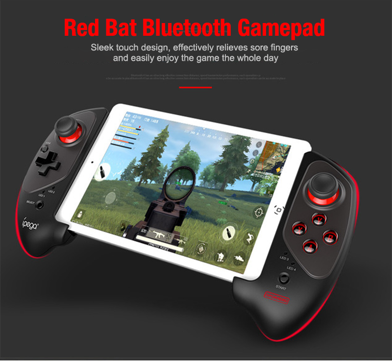 iPEGA PG-9083S Red Bat Wireless Bluetooth Gamepad Telescopic Game Controller Plug &  Play for Android IOS Smartphone Tablet