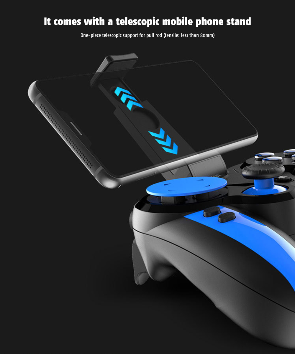 iPEGA PG-9090 Gamepad Replaceable Cross Key Elastic Phone Holder Flexible Joystick Bluetooth 4.0 with 2.4GHz Receiver